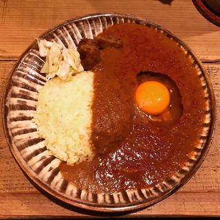 チキンカレー (スパイシー/並/生玉子トッピング))(サトナカ )