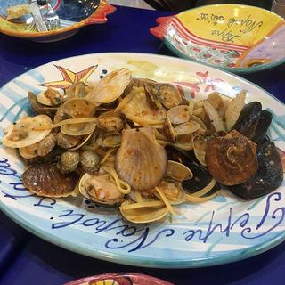 貝のパスタ