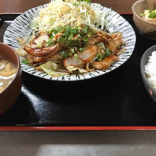 ホルモンタレ焼き定食