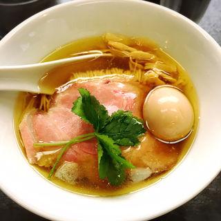 塩味玉蕎麦(神保町 黒須)