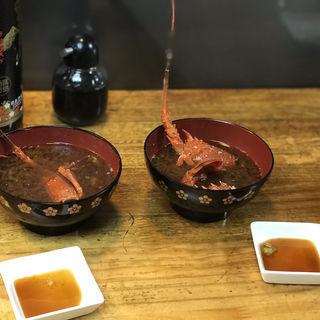 伊勢海老のお刺身の残り味噌汁(たくみ )