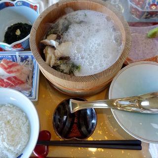 天然真鯛の石焼定食(美野幸 (みのこう))