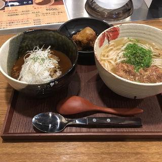 牛テールうどん カレーセット(牛テールうどん 和尾(わび))