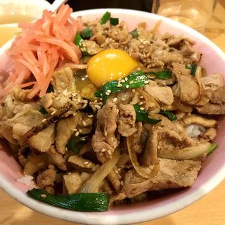 肉丼+生玉子