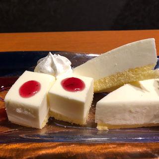レアチーズケーキ(チーズタッカルビ&個室 遥 梅田店)