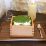 ケーキ氷「宇治抹茶クリーム」