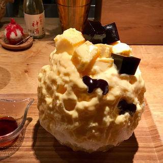 コロコロコーヒーゼリー&プリンカスタード(氷屋ぴぃす )