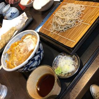 カツ丼 蕎麦セット(石臼そば 寿 (ことぶき))