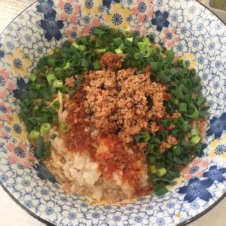 限定麺 汁なし坦々麺(ライス付き)(ざいとん )