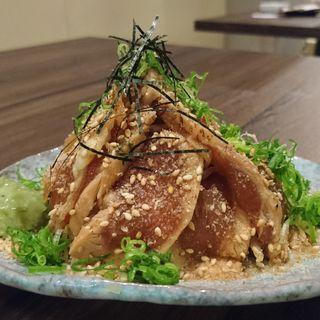 漬け鶏胡麻まみれ(鳥どシ 立川店)