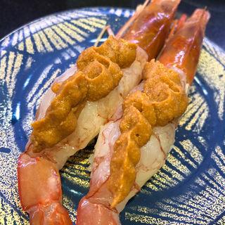 特大赤海老えび味噌のっけ