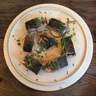 炙り鯖とジャガイモのソテー