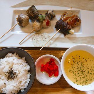 串焼きランチ(野菜巻き串バル ぽっぽ)