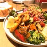 野菜のお惣菜ランチ [メインプレートスープ パン]