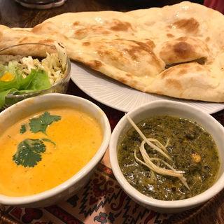 トライアルカレーセット(バターチキン/パラクパニール)(印度料理シタール )