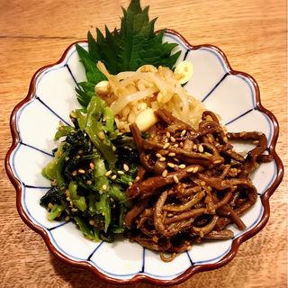 手作りナムル3種盛り(肉亭いちゆく)