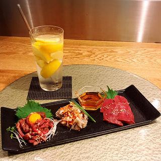 肉前菜3種盛り(肉亭いちゆく)