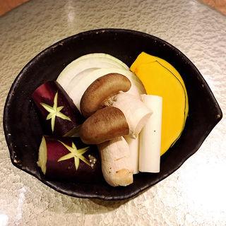 季節の焼き野菜5種盛り(肉亭いちゆく)