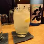 金井商店のレモンサワー