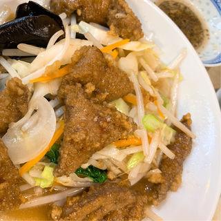 レバ野菜炒め(水新菜館 (ミズシンサイカン))
