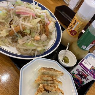 野菜たっぷり皿うどんセット(リンガーハット 西大分店 )