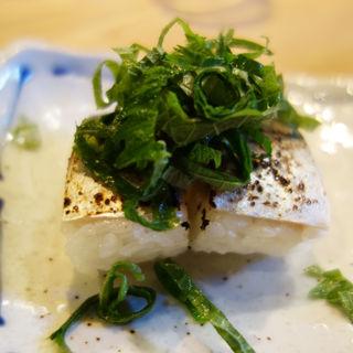 炙りシメサバ寿司(居酒屋 いっすい)