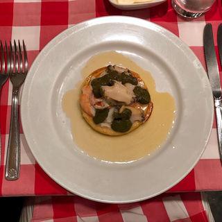 エビと貝とトウモロコシのパンケーキ(ディーバ )