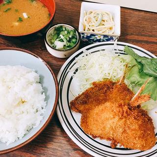 アジフライ定食(佐久良屋 )