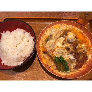 二個玉子特ロースかつ丼(祭太鼓 上本町店 )