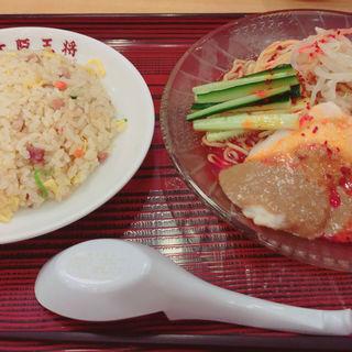 棒棒鶏冷麺半チャーハンセット(大阪王将 大牟田ゆめタウン店)