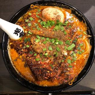 味玉カラシビ味噌らー麺(カラシビつけ麺 鬼金棒 (キカンボウ))