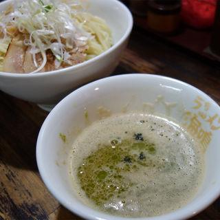 魚介とんこつつけ麺+イタリアンオイル(ラーメン海鳴 清川店)