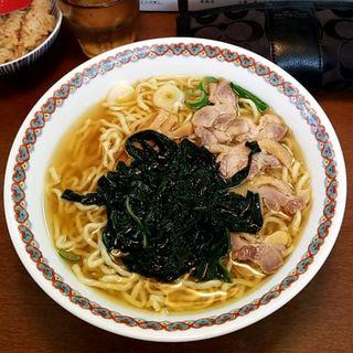 三陸わかめチャーシュー麺(中華そば 嘉一)