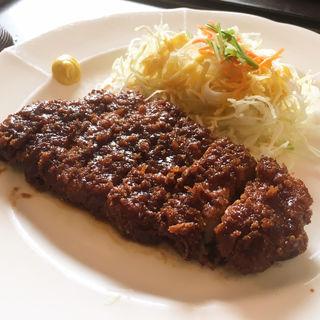 国産豚の味噌かつランチ(広小路キッチンマツヤ )