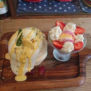 レモンチョコパンケーキ~レアチーズ添え~(プランピーパンケーキス (plumpy pancakes))