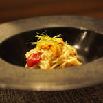 北海道産ウニの冷製カッペリーニ