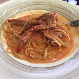 渡りガニのトマトクリームスパゲティ