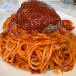 ハンバーグスパゲティ大盛り