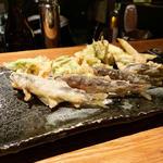 稚鮎と山菜天ぷら
