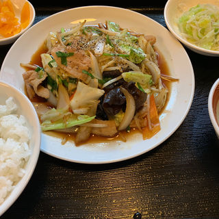 豚肉と野菜炒め定食(鶴軒)