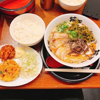 藤平ラーメン(フライセット)(らー麺 藤平 堂島店)