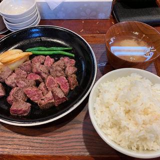 番人ステーキ定食(大)(ステーキ食堂 肉の番人)