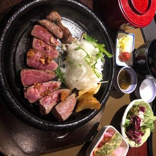 牛ロースステーキ御膳(竹屋 )