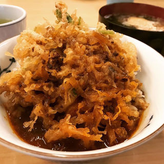 辛口カレーかき揚げ丼 ミニうどん付(天重 本店 )