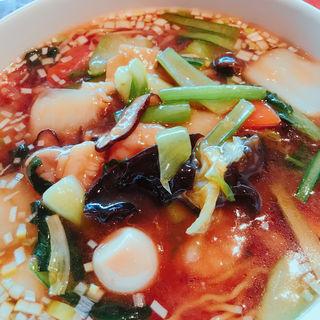 五目あんかけ麺(中華料理 頤和園 大博多ビル店)