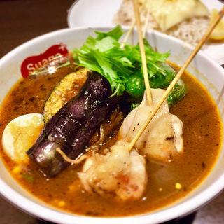 パリパリ知床鶏と野菜カレー(スープカリー スアゲ プラス 本店)