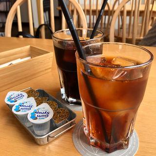 有機アイスコーヒーと有機アイスティー(futaba cafe)