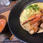 渡り蟹のつけ麺ランチ