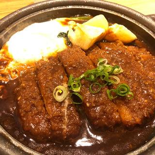 味噌カツ煮定食(やよい軒 伊勢佐木店)