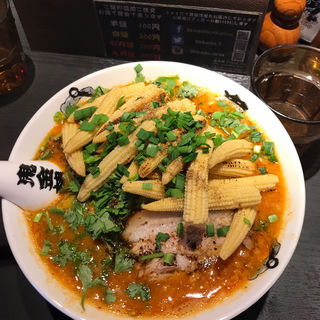 パクチーカラシビ味噌らー麺(カラシビ味噌らー麺 鬼金棒 池袋店)
